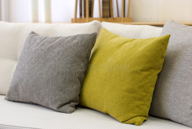 Download Pillows stock photo. Image of design, modern, gray, fabric - 27004652