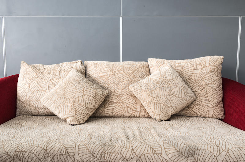 Pillows on comfortable sofa. stock images