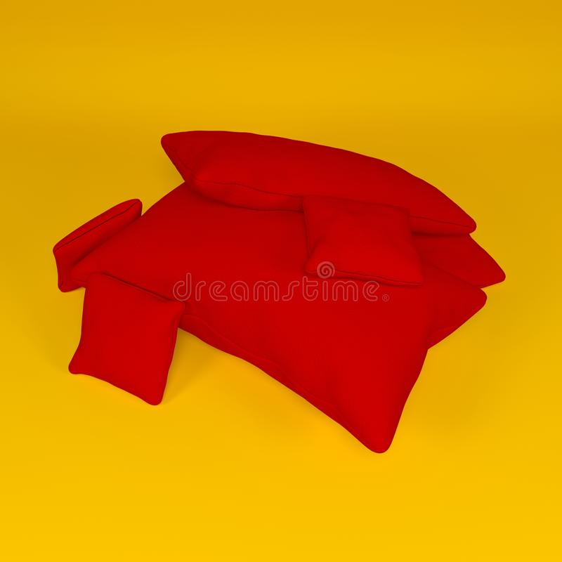 Pillows composition royalty free stock photography
