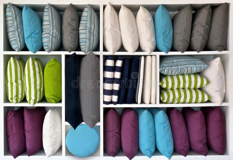 Pillows and cushions royalty free stock images