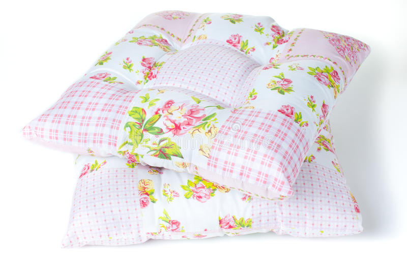 Pillows with floral patterns