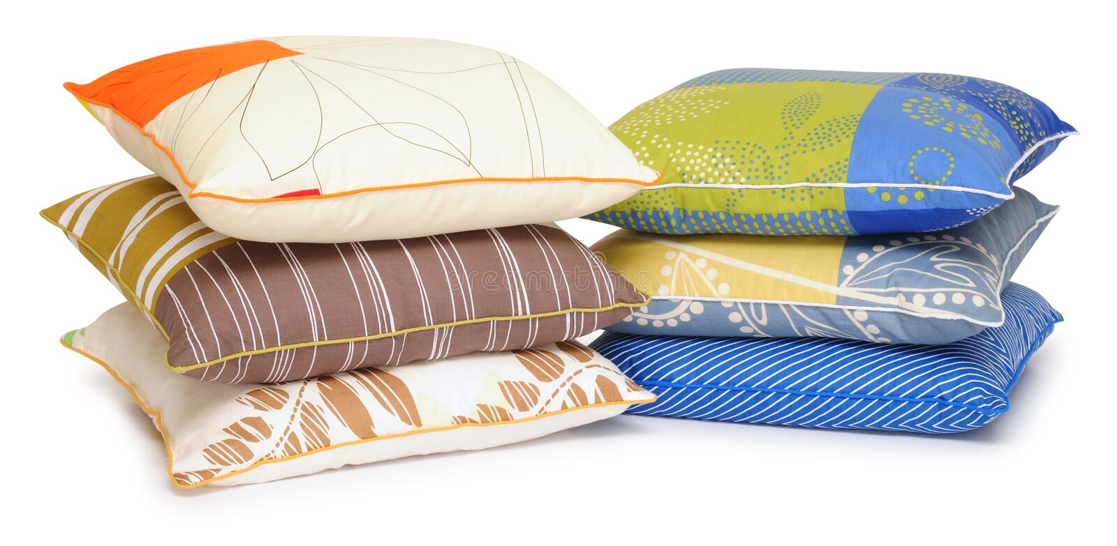 Pillows. Isolated stock image