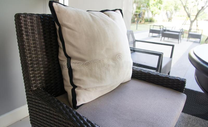 Pillows in living room royalty free stock photos