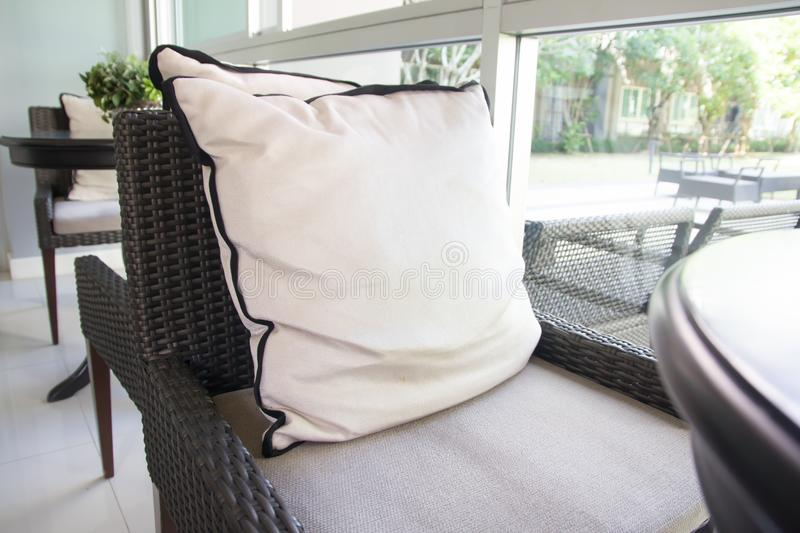 Pillows in living room royalty free stock photography