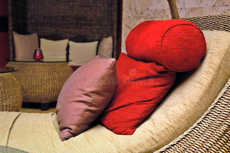 Pillows and sofa royalty free stock photo