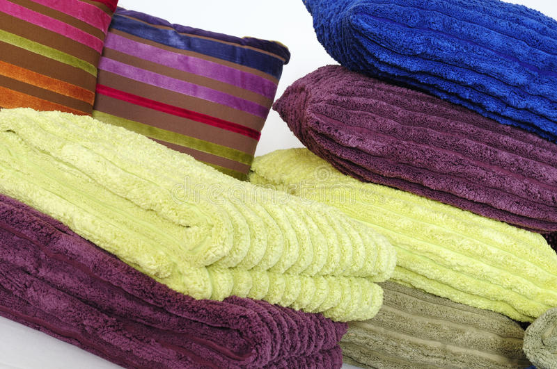 Download Pillows and towels stock image. Image of textile, clean - 12266247