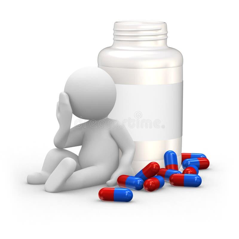Download Pills stock illustration. Image of headache, blue, hospital - 14016262