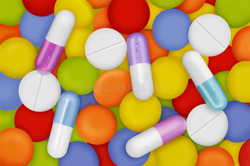Download Pills stock image. Image of colour, healthful, capsule - 21304131