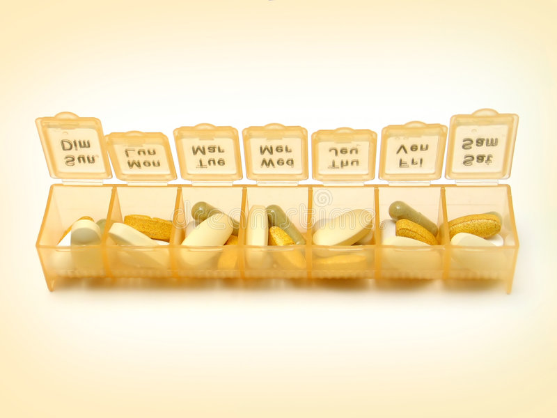 Daily Pills 5 royalty free stock photography