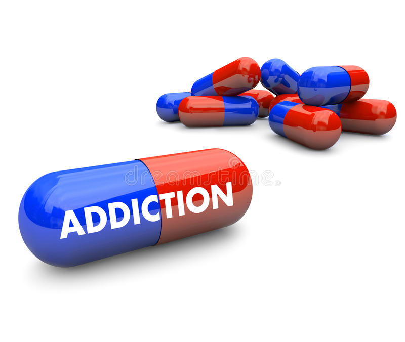 Pills - Addiction vector illustration