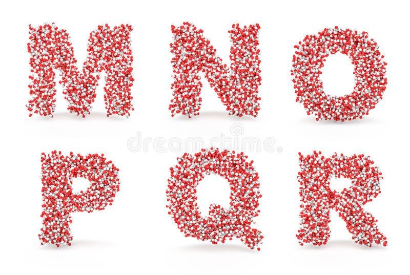 Download Pills alphabet M N O P Q R stock illustration. Image of health - 29697274