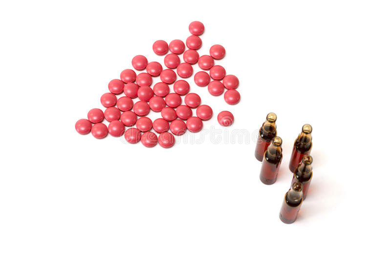 Pills and ampules royalty free stock photography