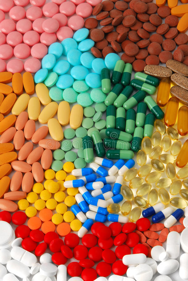 Free Pills And Tablets Royalty Free Stock Photos - 9525548