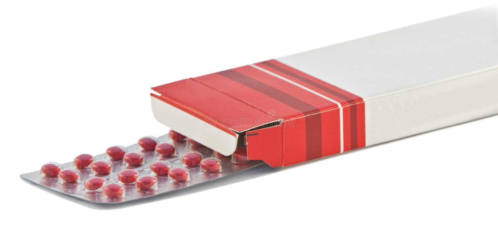 Pills box royalty free stock images