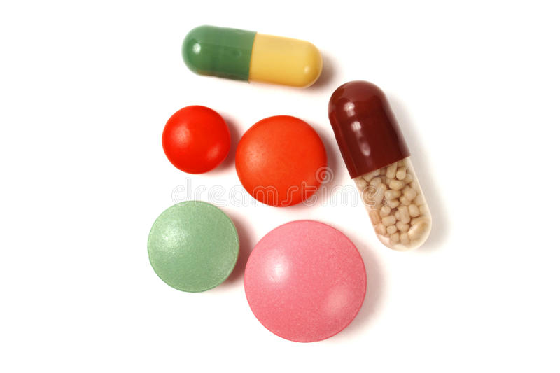 Pills and capsules royalty free stock photography