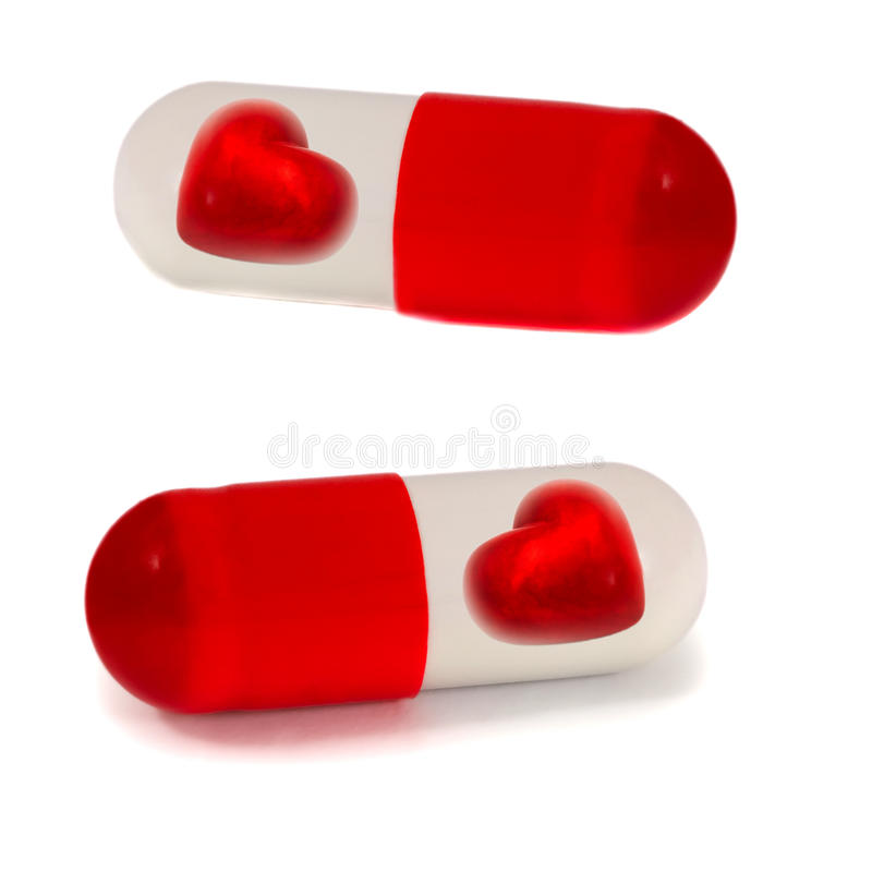 Download Pills With Heart Royalty Free Stock Image - Image: 23308496