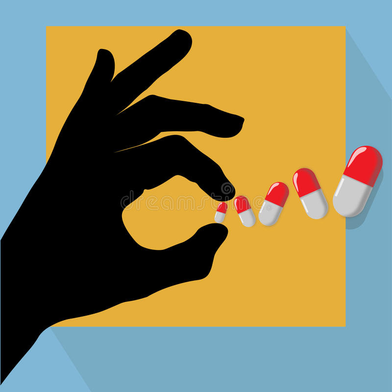 Pills illustration stock images