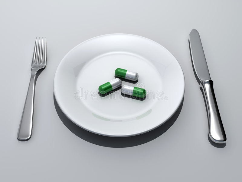 Download Pills meal stock illustration. Illustration of stamping - 5407308