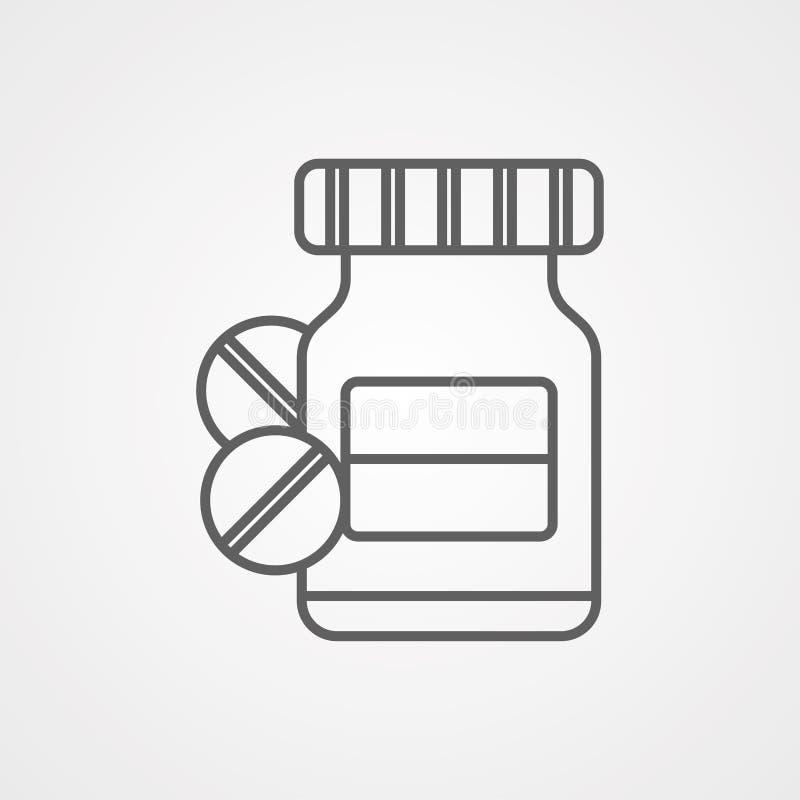 Medicine vector icon sign symbol royalty free illustration