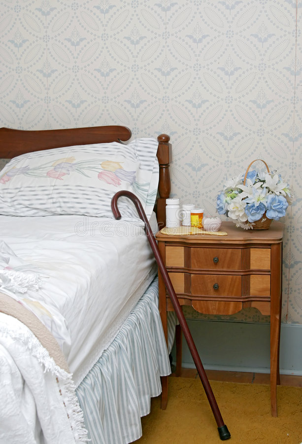 Free Pills On A Bedside Table Stock Image - 5308281