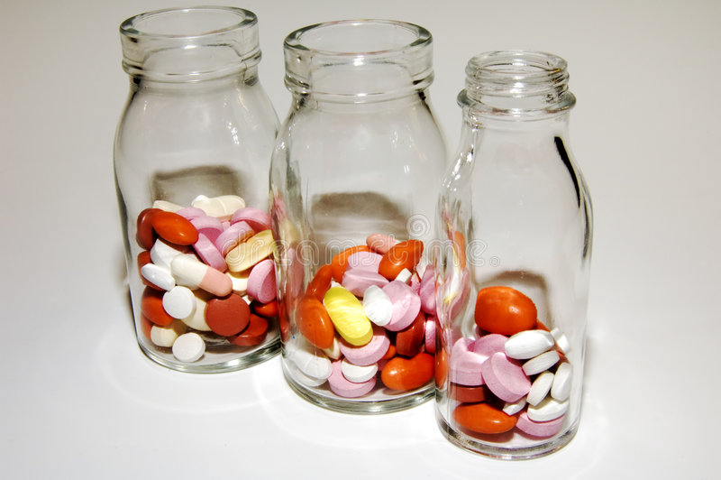 Pills and pills stock photo