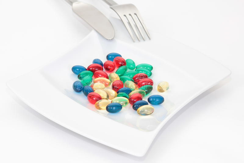Download Pills On The Plate Stock Images - Image: 10762934