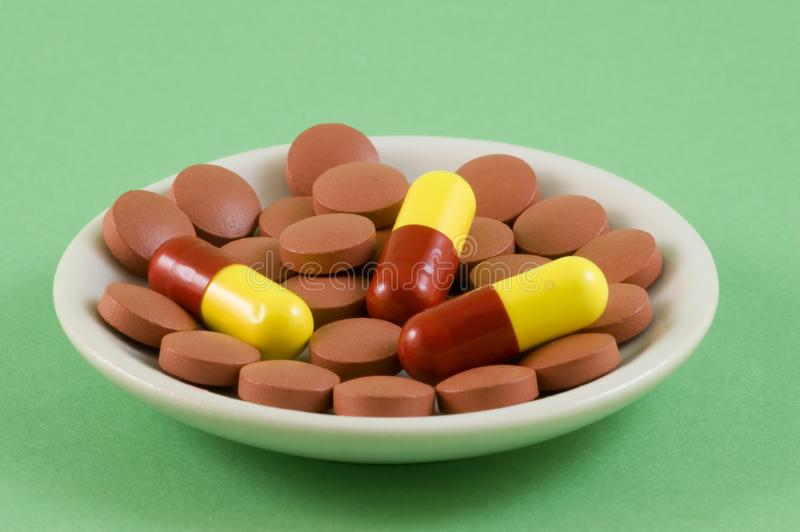 Pills On A Plate 2 Free Stock Images