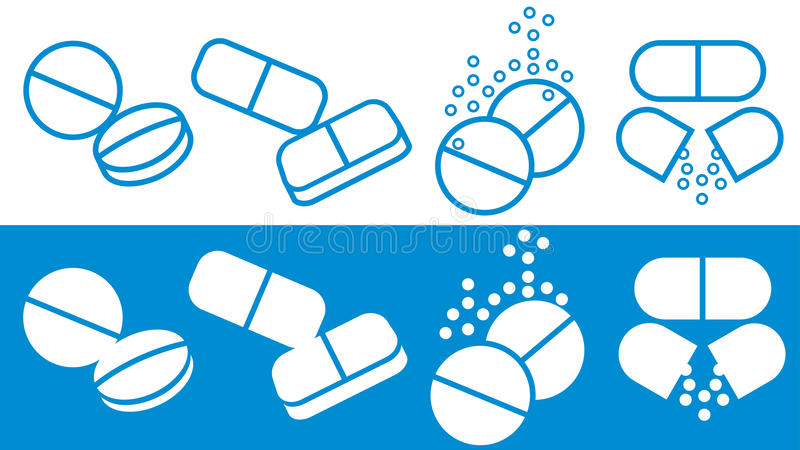 Download Pills Silhouettes Collection Stock Vector - Image: 23384235