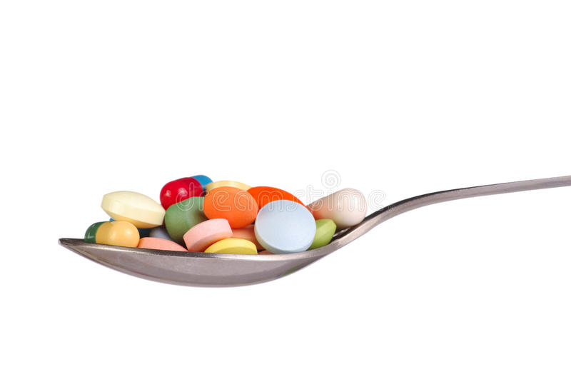 Download Pills on Spoon stock image. Image of medicine, isolated - 11252917