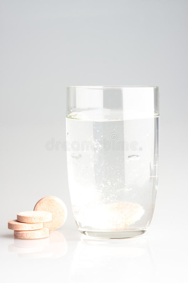 Download Pills and water stock photo. Image of immersed, fizzing - 10002304