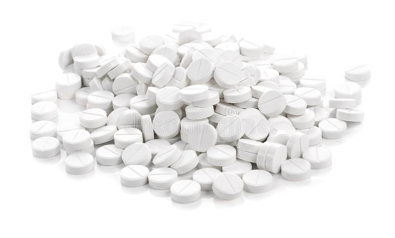 The pills on white background stock image
