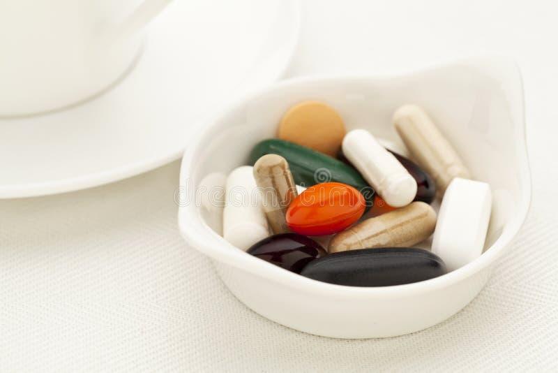 pillssupplementvitamin arkivfoton