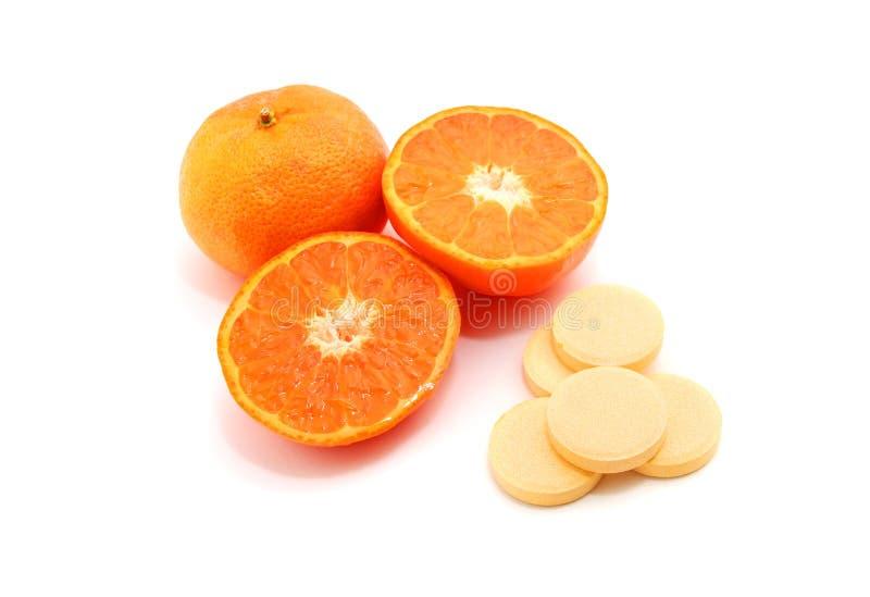 Pillule de vitamine C image libre de droits