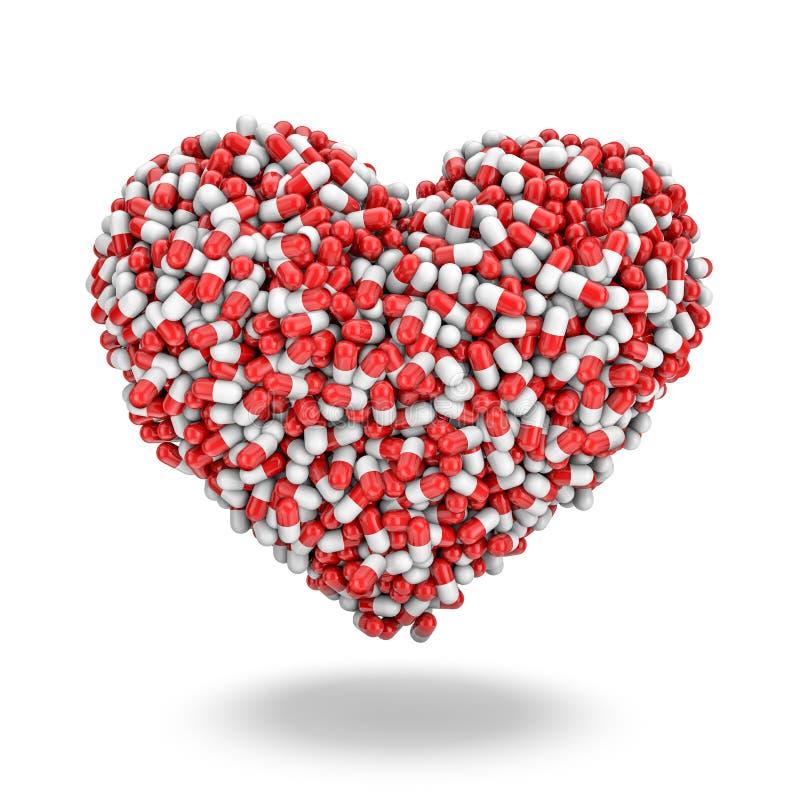 Pillules de coeur illustration de vecteur