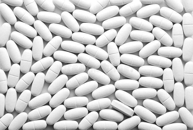 Fond Blanc De Pilules Photographie Gratuite