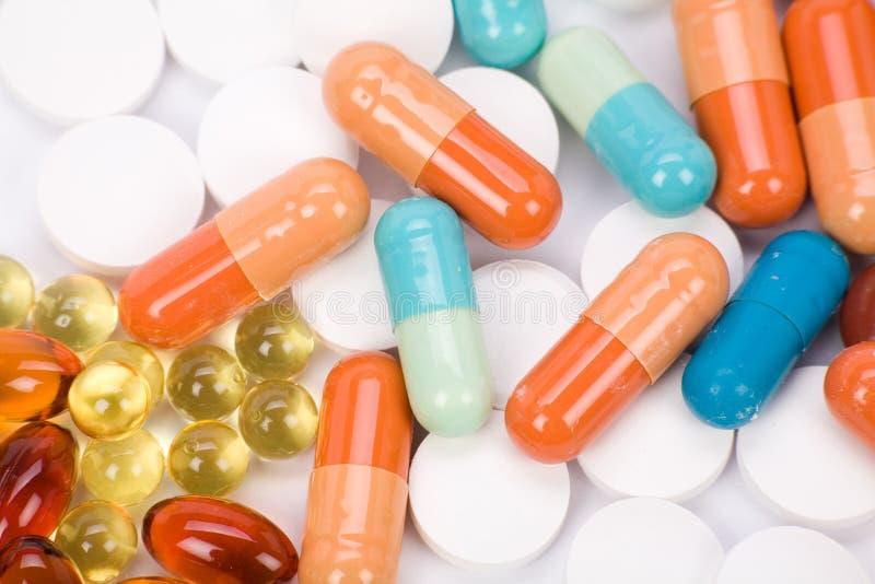 Pillules de médecine photographie stock