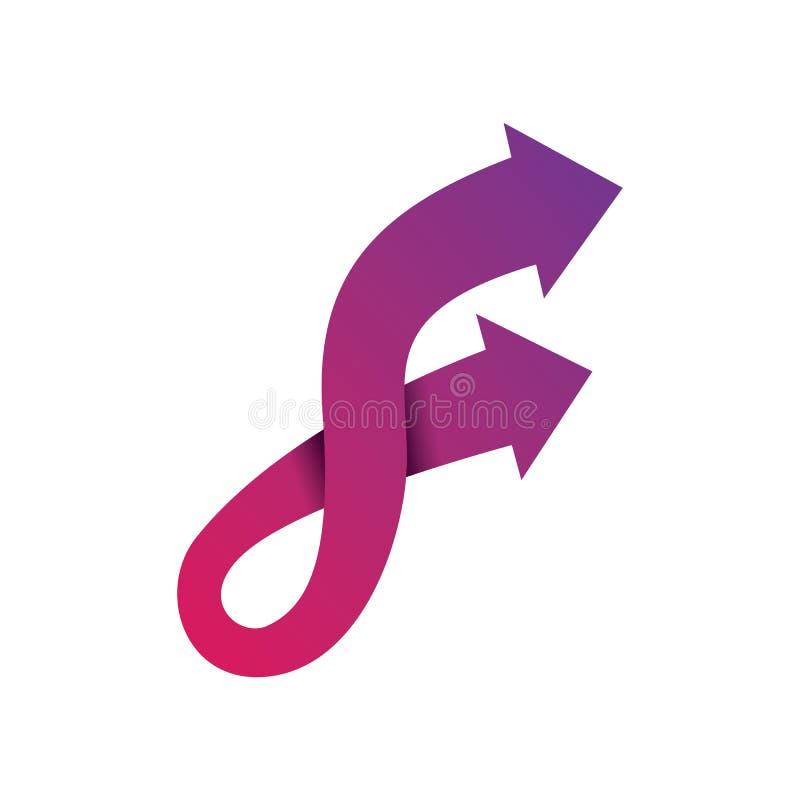 Pillutning Logo Vector för bokstav F vektor illustrationer
