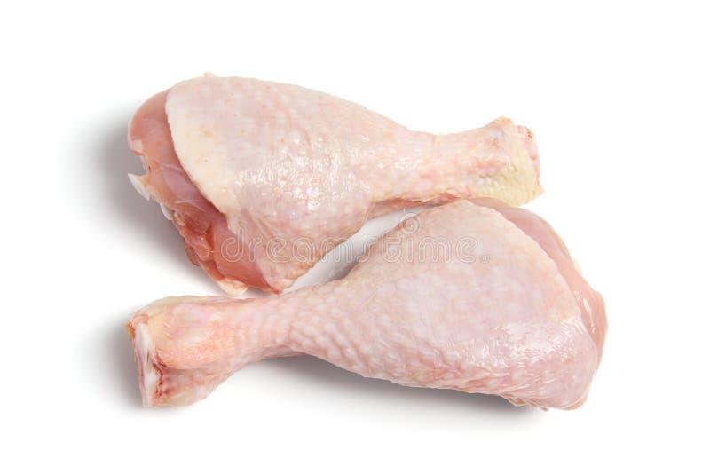 Pilon de poulet cru images libres de droits