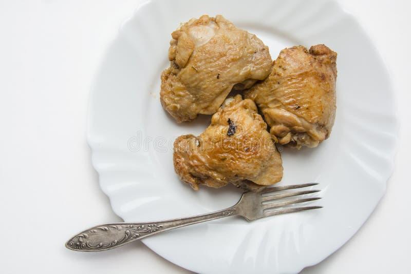Pilon de poulet frit photo stock