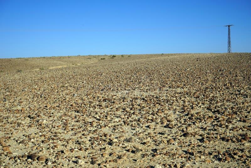 Pilon w pustynia negew fotografia royalty free