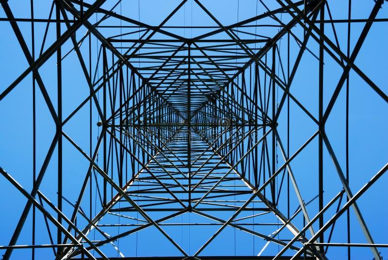 Pilone d'acciaio di elettricità fotografia stock