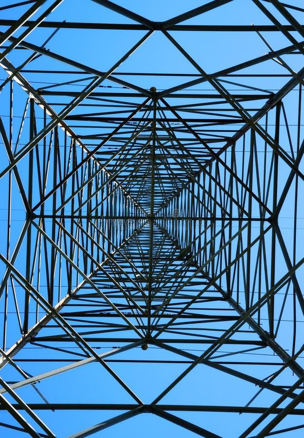 Pilone d'acciaio di elettricità fotografia stock libera da diritti