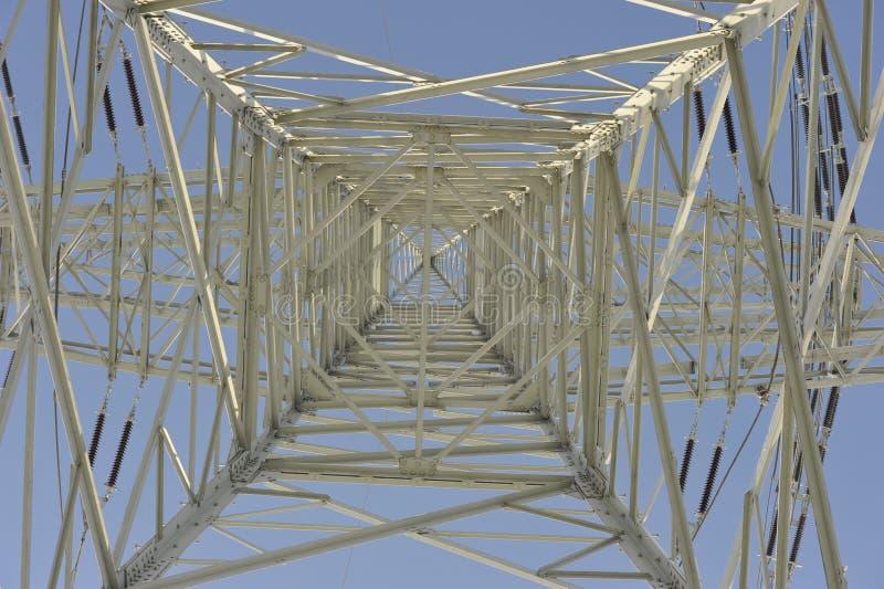 Pilone del trasporto di energia fotografie stock