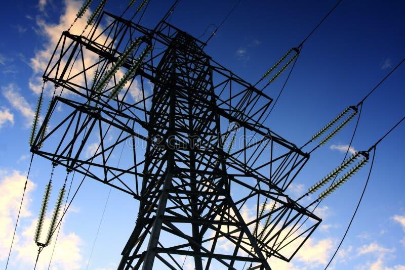 Pilone di elettricità - blocco per grafici superiore fotografia stock