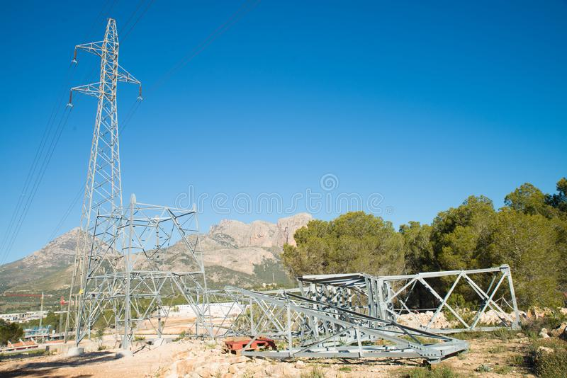 Pilone di elettricit? di Unifinished fotografie stock libere da diritti
