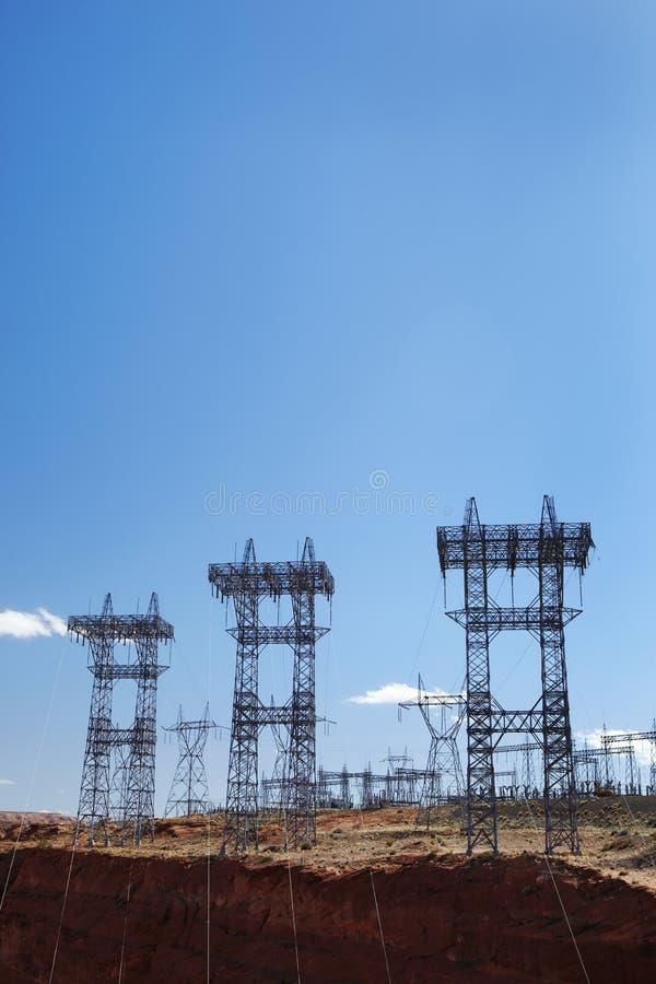 Piloni U.S.A. di elettricità immagine stock libera da diritti