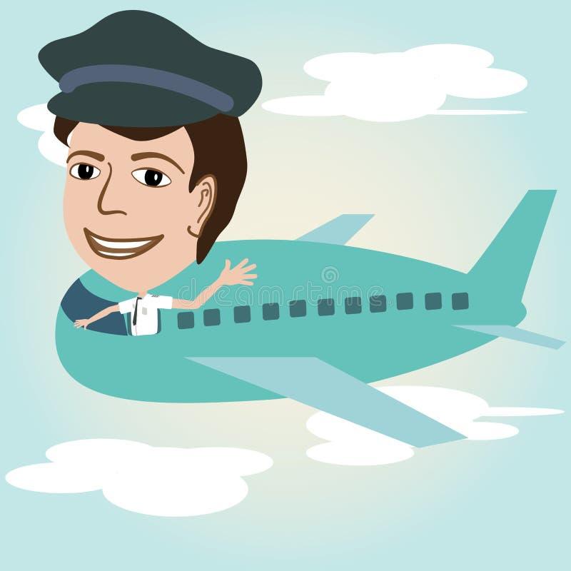 Download Pilot stock illustration. Illustration of aeroplane, plane - 25972418