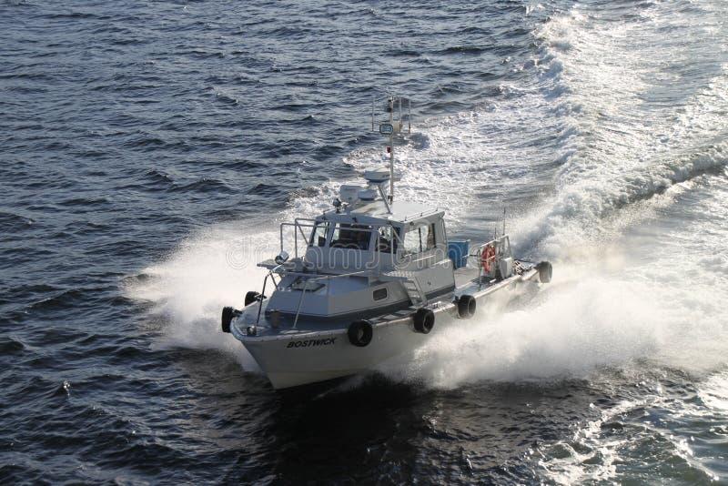 Pilot boat stock photo