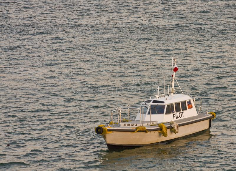 Download Pilot Boat in Grey Water stock photo. Image of nature - 8247526