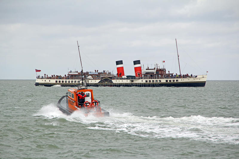 Pilot boat and waverley paddle steamer